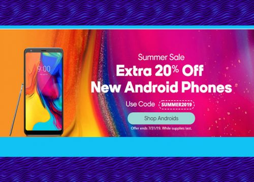 Summer Sale Extra 20% Off  New Android Phones